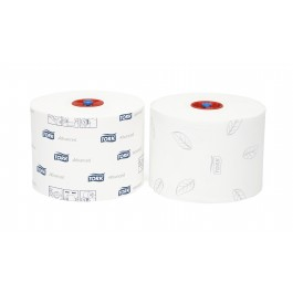 Toiletpapier compact 2-lgs wit breed 10 cm 100 m