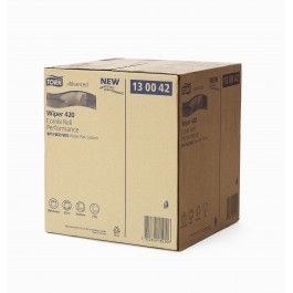 Poetsrol tork wiper 420, 2-lgs wit breed 26 cm 255 m, 1 rol 130042