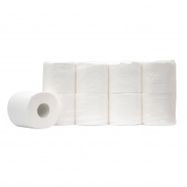 Toiletpapier traditioneel 3-lgs wit breed 10 cm 250 v