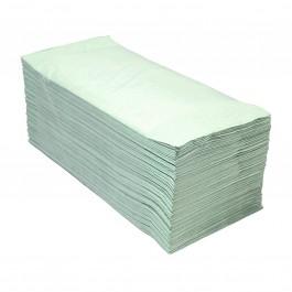Handdoekpapier 1-lgs groen Z-vouw breed 25 cm, 50786