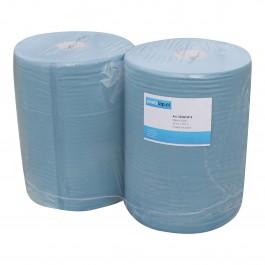 Industrie papier 2-lgs blauw breed 36 cm 360 m, recycled, sterk 2 rollen, 520403416