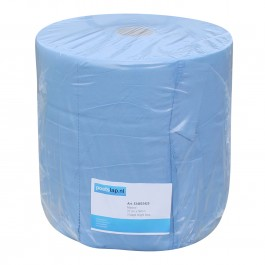 Industrie papier 3-lgs blauw breed 37 cm 390 m, recycled verlijmd 1 rol, 534603425