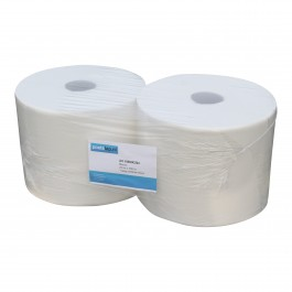 Industrie papier 1-lgs wit breed 23 cm 1000 m, cellulose 2 rollen, 1000243324