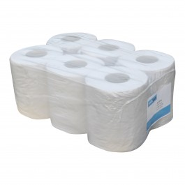 Midi papier 2-lgs wit breed 20 cm 140 m, recycled 6 rollen 523143142