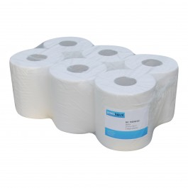Midi papier 2-lgs wit breed 20 cm 160 m, cellulose verlijmd 6 rollen 1100163122