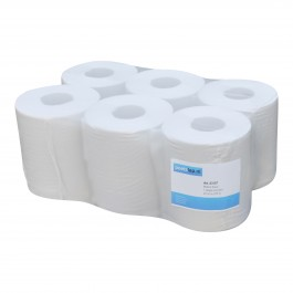 Midi papier 1-lgs wit breed 20 cm 270 m, recycled 6 rollen 1183253107